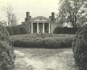 Poplar Forest circa 1943 showing the turnaround entrance