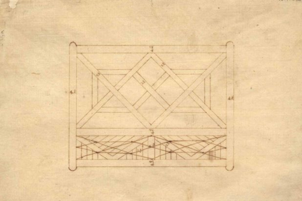 An original design sketch for a gate at Poplar Forest, a true piece of Jeffersonian architecture.